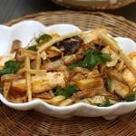 Món đậu phụ xào nấm, măng   MCXC02